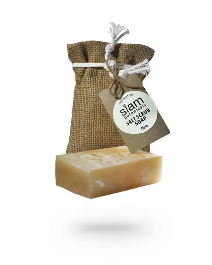 Соляное мыло-скраб Гвоздика Siam