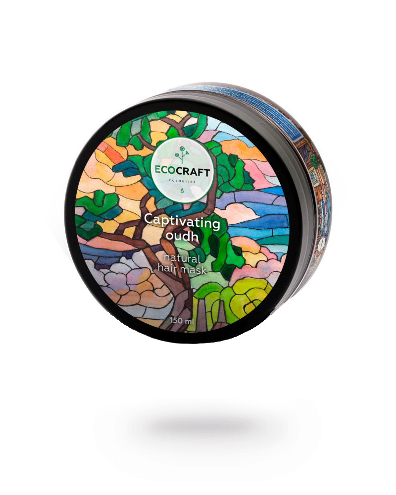"""EcoCraft Маска для роста и против выпадения волос """"Captivating oudh""""  Пленительный уд 150 мл"""