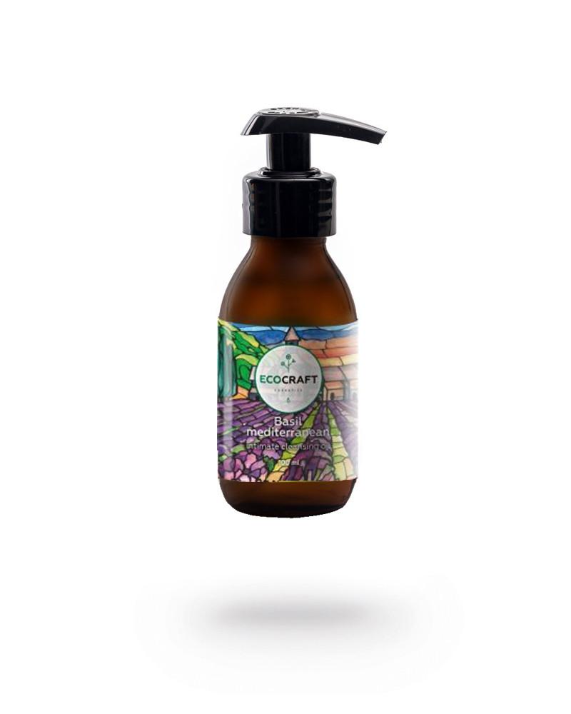 """EcoCraft - Гидрофильное масло для интимной гигиены """"Basil mediterrenian"""" Базилик средиземноморский 100 мл"""
