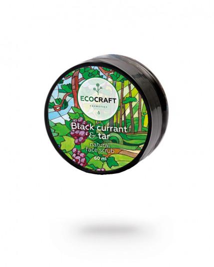 """EcoCraft - Скраб для лица для сухой и чувствительной кожи """"Black currant and tar"""" Черная смородина и смола 60 мл"""