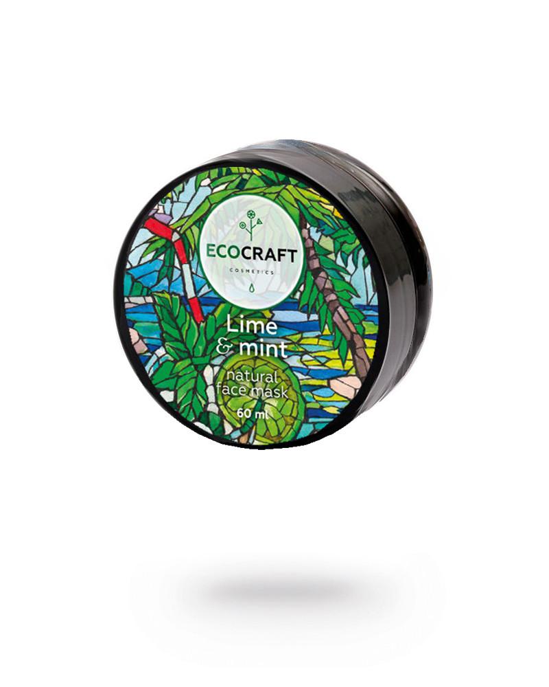 """EcoCraft - Ледяная моментальная маска для лица и зоны декольте моделирующая """"Lime and mint"""" Лайм и мята 60 мл"""