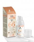 ВВ-Крем ухаживающий солнцезащитный с тонирующим эффектом Розово-Бежевый/BB Cream-Rose Beige Sativa №66 SPF15