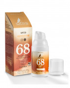 Крем «невидимый» минеральный солнцезащитный Песочно-Бежевый/Sand Beige Sativa №68 SPF30