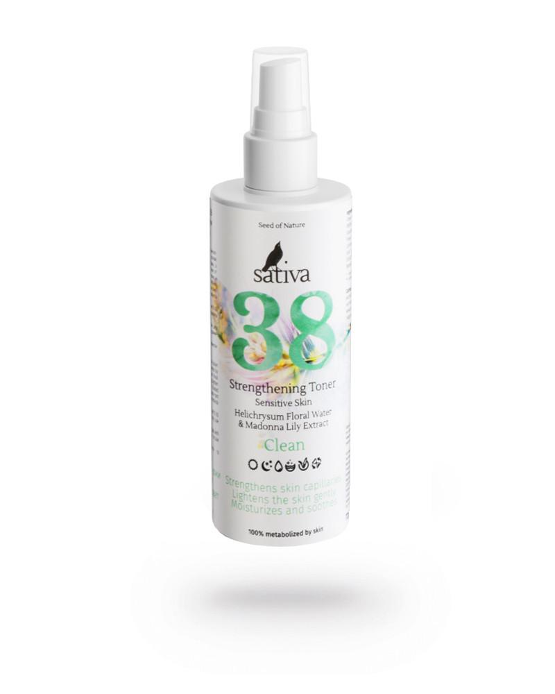 Тоник укрепляющий для чувствительной кожи Sativa №38