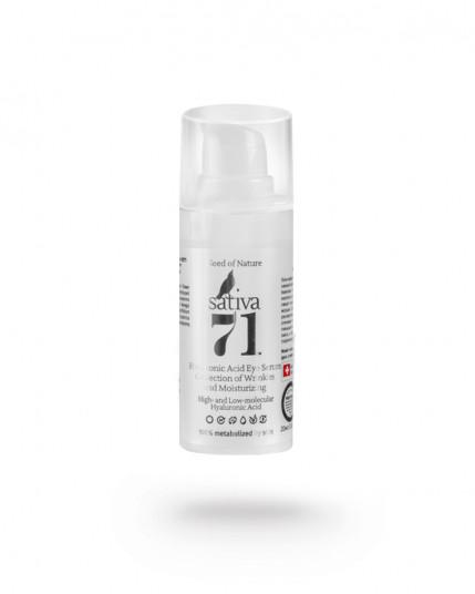 Гиалуроновая гель-сыворотка для век увлажнение Sativa №71