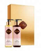 """Подарочный набор """"Минуты нежности"""" с Дамасской розой: масло для душа, молочко для тела Zeitun"""